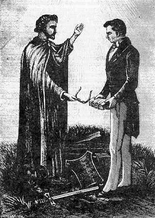 Joseph Smith recevant les plaques métalliques