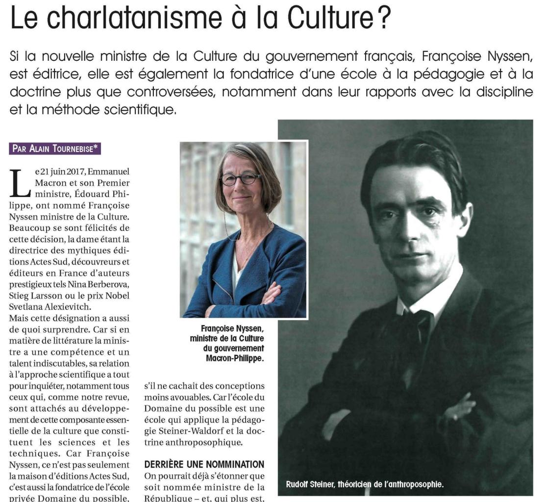 Le charlatanisme à la culture ?