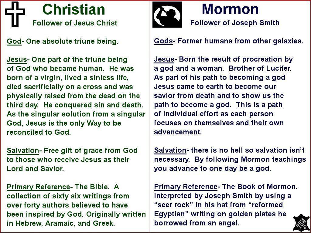 Chretiens vs Mormons